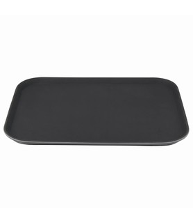 Black Rectangular Large Anti-Slip Fiberglass Tray 500 x 380mm