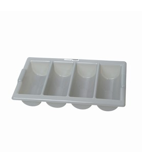 4 Compartment Grey Cutlery Box