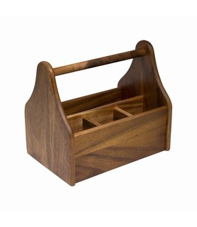 Wooden Table Caddy 4 Compartment