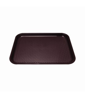 Brown Small Rectangular Plastic Tray