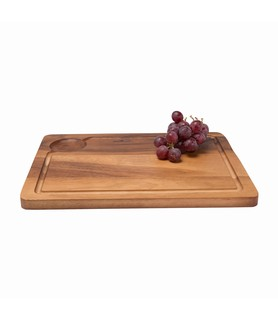 Rectangular Wooden Presentation Board With Groove