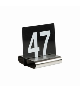 Stainless Steel B Shape Table Number Holder