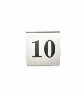 Stainless Steel Table Number Set 1-10