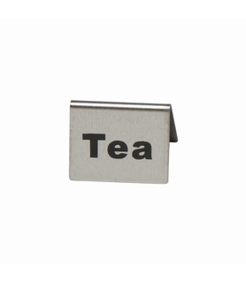 Stainless Steel Tea Buffet Sign