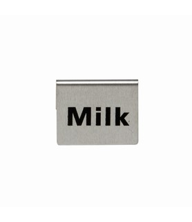 Stainless Steel Milk Buffet Sign