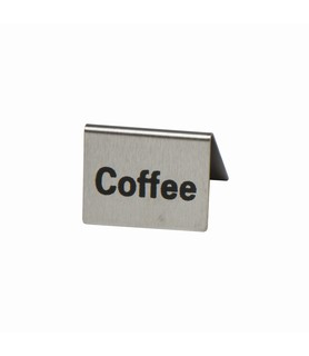 Stainless Steel Coffee Buffet Sign