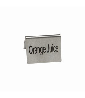 Stainless Steel Orange Juice Buffet Sign
