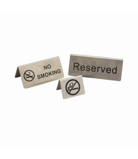 Stainless Steel No Smoking Buffet Sign