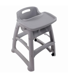 Stackable High Chair Grey