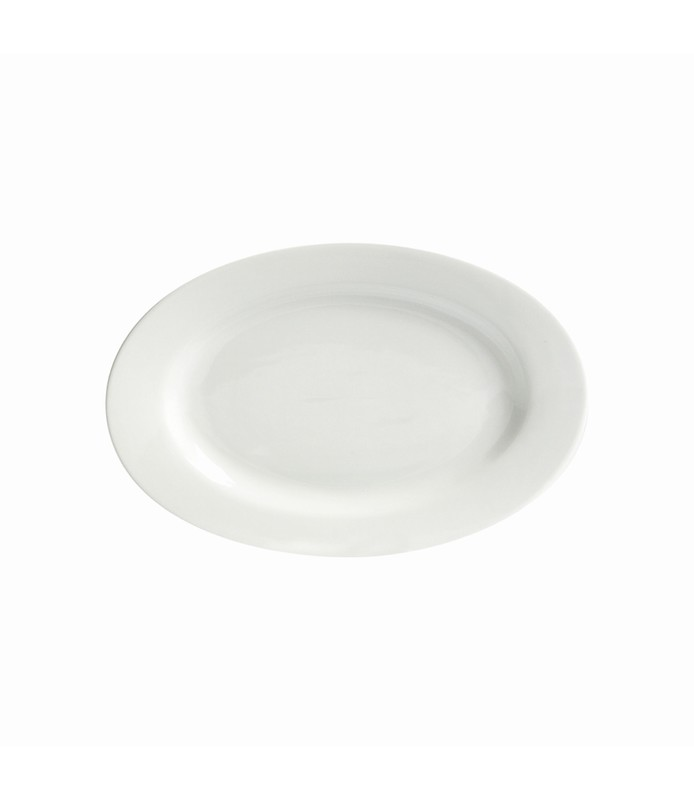 Host Classic White Oval Plate Wide Rim 300mm