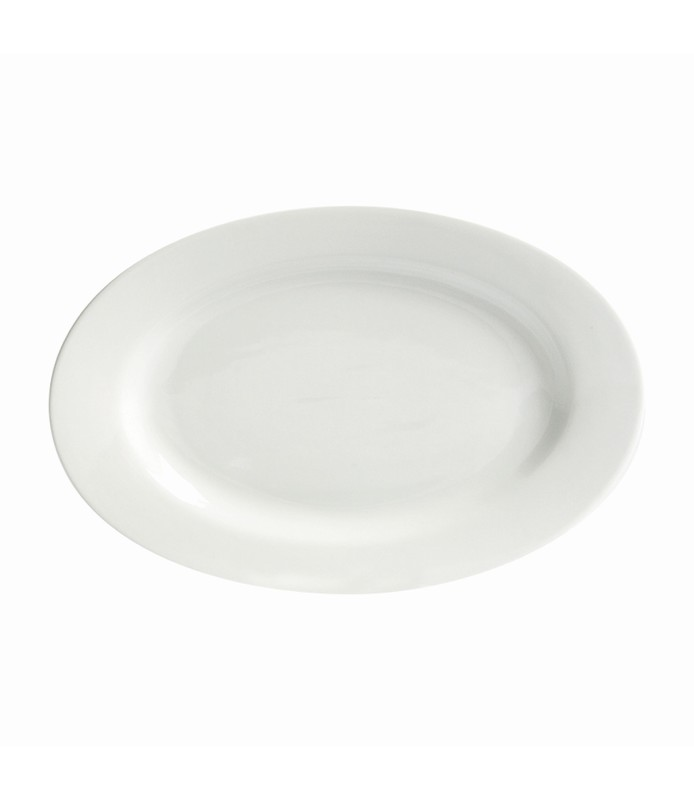 Host Classic White Oval Plate Wide Rim 380mm