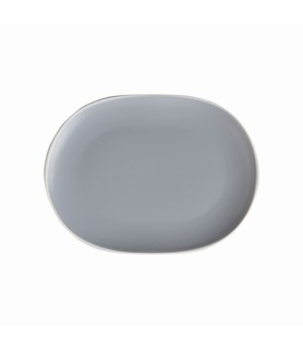 Mist Oval Coupe Plate Blue 200 x 150mm
