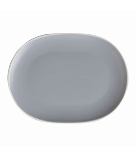 Mist Oval Coupe Plate Blue 250 x 195mm