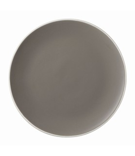 Mist Round Coupe Plate Grey 220mm