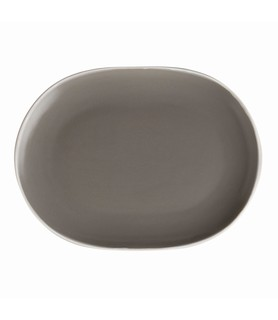 Mist Oval Coupe Plate Grey 250 x 195mm