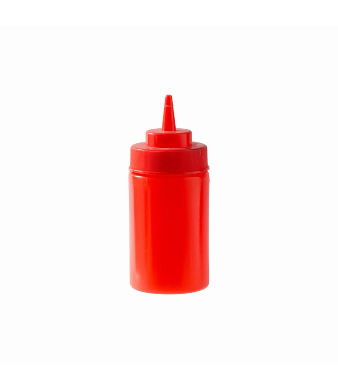 Red Squeeze Bottle 340ml