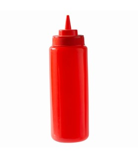 Red Squeeze Bottle 1L
