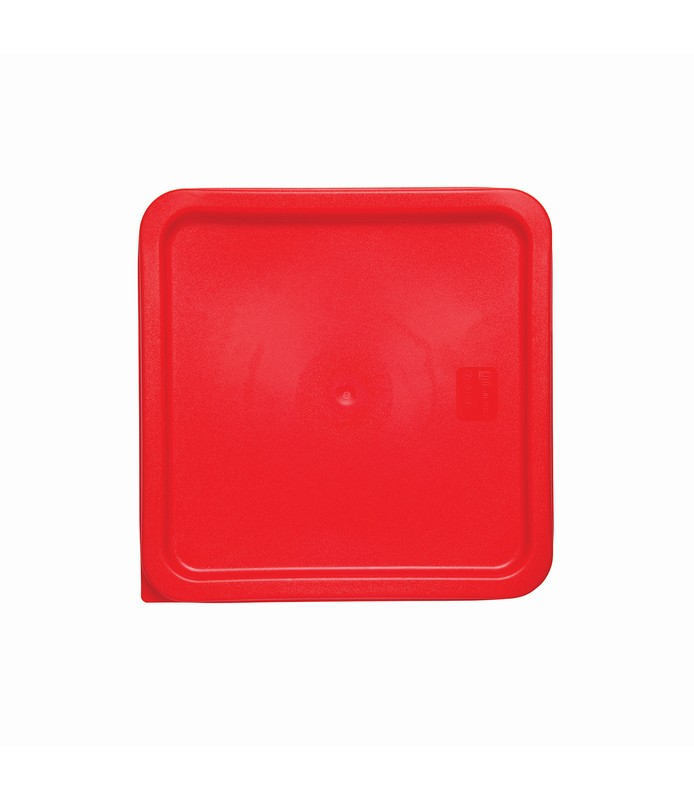 Red Square Food Container Lid 187 x 187mm