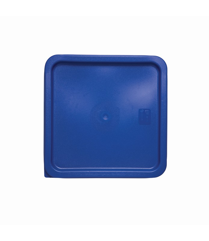 Blue Square Food Container Lid 187 x 187mm