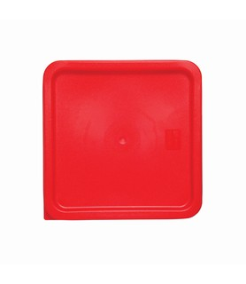 Red Square Food Container Lid 230 x 230mm