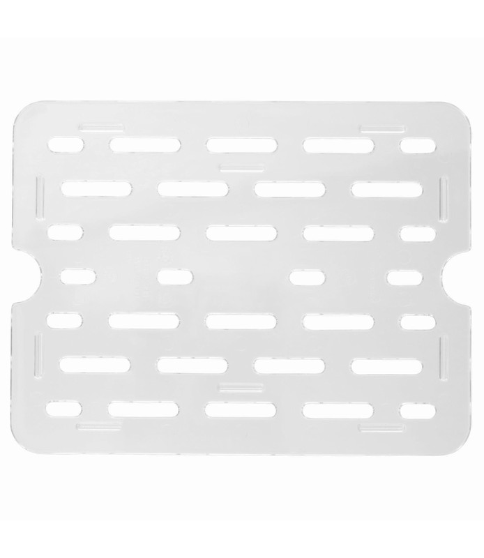 Polycarbonate Food Pan Clear Drain Plate 1/1
