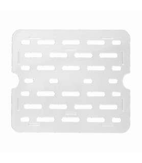 Polycarbonate Food Pan Clear Drain Plate 1/2