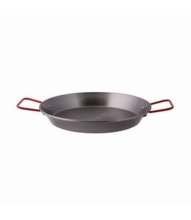 Black Steel Paella Pan 260mm