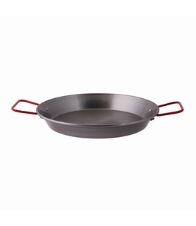 Black Steel Paella Pan 380mm