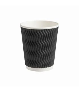 Alfresco Coffee Cup Triple Wall Corrugated Charcoal 8oz 500 Per Ctn