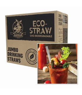 Clear Biodegradable Oxo Jumbo Straw 3000 Per Ctn