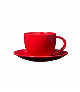 Hunter Reid Porcelain Coffee Cup Red 250ml
