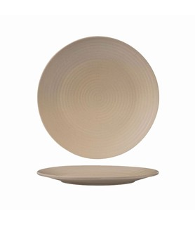 Zuma Plate Round Ribbed Sand 210mm