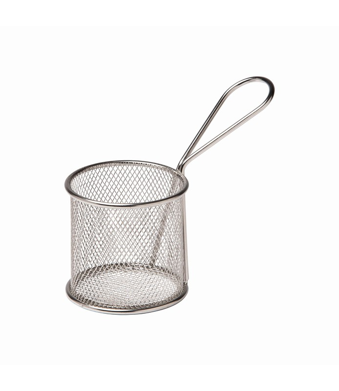 Stainless Steel Mini Fry Basket Round 80mm
