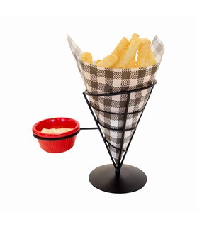 Wire French Fry Holder 1 Sauce Compartment