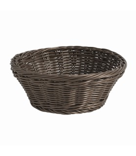 Dark Brown Round Deluxe Bread Basket