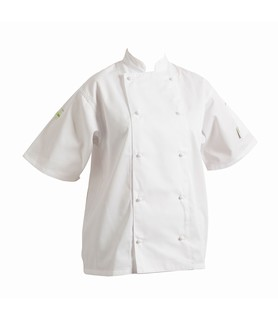 HEADCHEF Chef Jacket Classic Short Sleeve White Medium