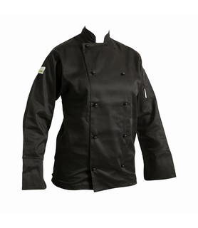 HEADCHEF Chef Jacket Classic Long Sleeve Black Extra Large