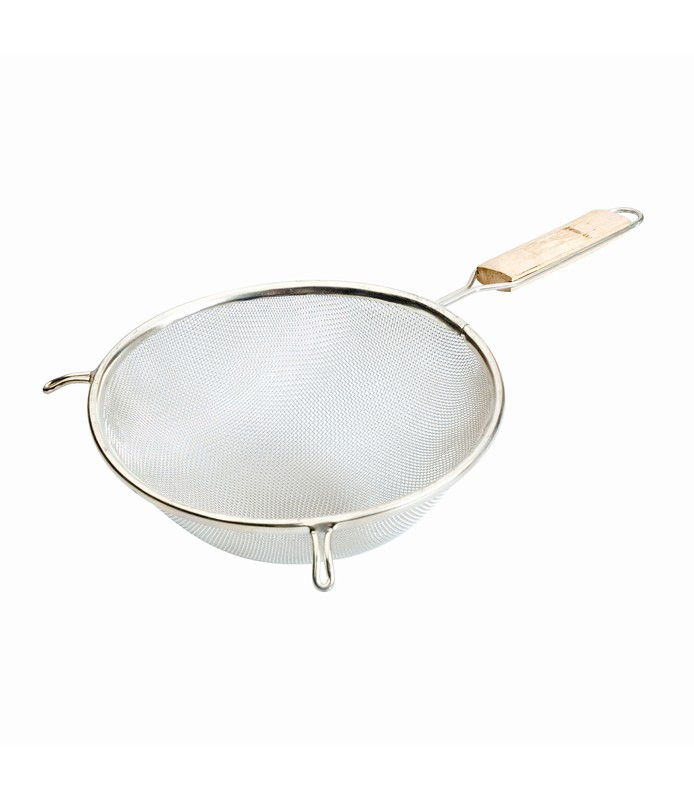 Double Mesh Strainer with Wood Handle 160mm