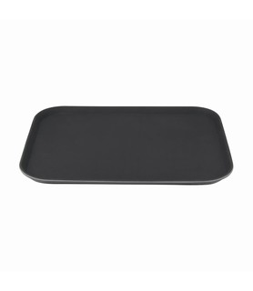 Black Rectangular Small Anti-Slip Fiberglass Tray 560 x 360mm
