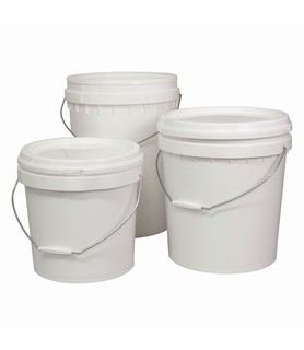 Plastic Pail With Lid White 15L