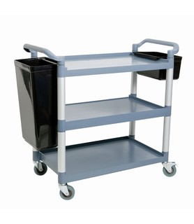 Polycarbonate 3 Tier Food Service Trolley