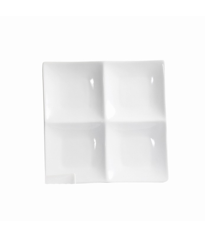 Host Classic White Rectangular Dish 2 Section