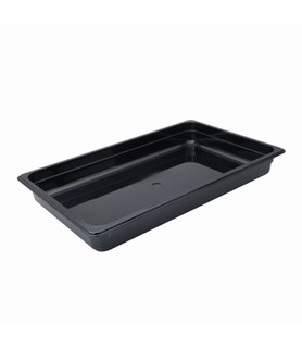 Polycarbonate Food Pan Black 1/1 x 100mm Deep