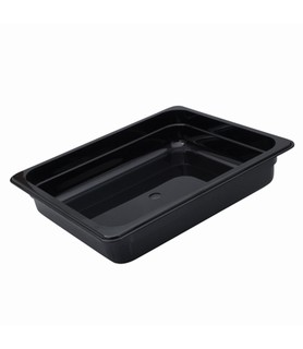 Polycarbonate Food Pan Black 1/2 x 150mm Deep
