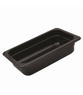 Polycarbonate Food Pan Black 1/3 x 150mm Deep