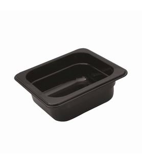 Polycarbonate Food Pan Black 1/6 x 65mm Deep