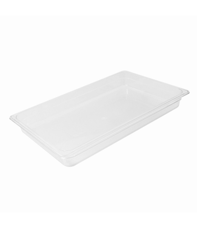 Polycarbonate Food Pan Clear 1/1 x 100mm Deep
