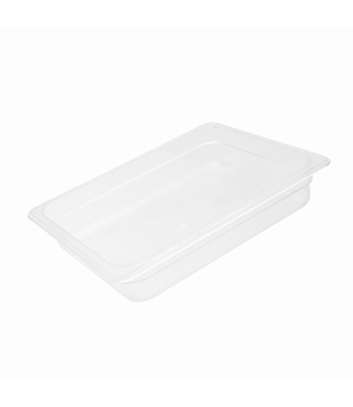Polycarbonate Food Pan Clear 1/2 x 65mm Deep