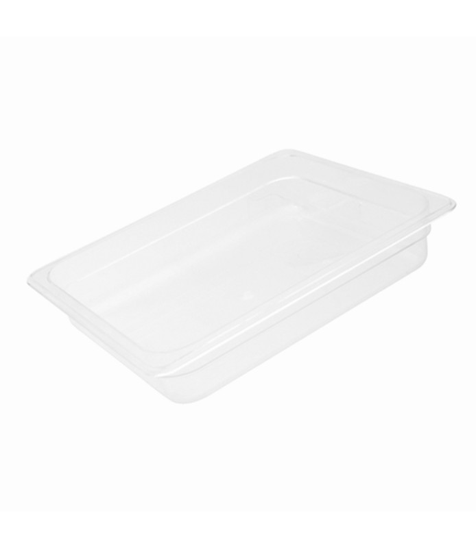 Polycarbonate Food Pan Clear 1/2 x 100mm Deep