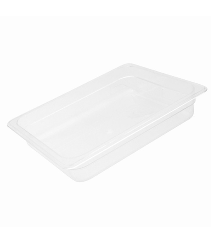 Polycarbonate Food Pan Clear 1/2 x 150mm Deep